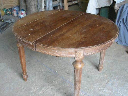 restauration d'un table ronde - bô bois - services menuiserie